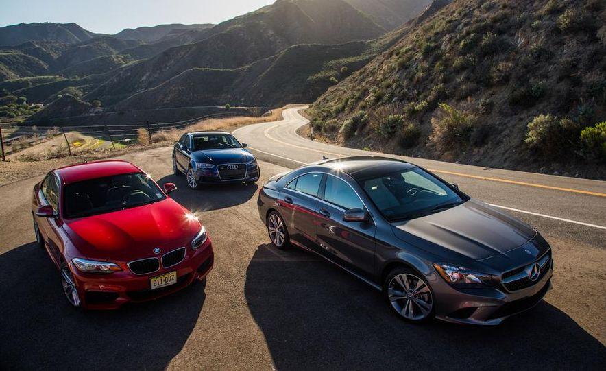 2014 BMW 228i M Sport, 2014 Mercedes-Benz CLA250 4MATIC, and 2015 Audi A3 2.0T Quattro - Slide 12