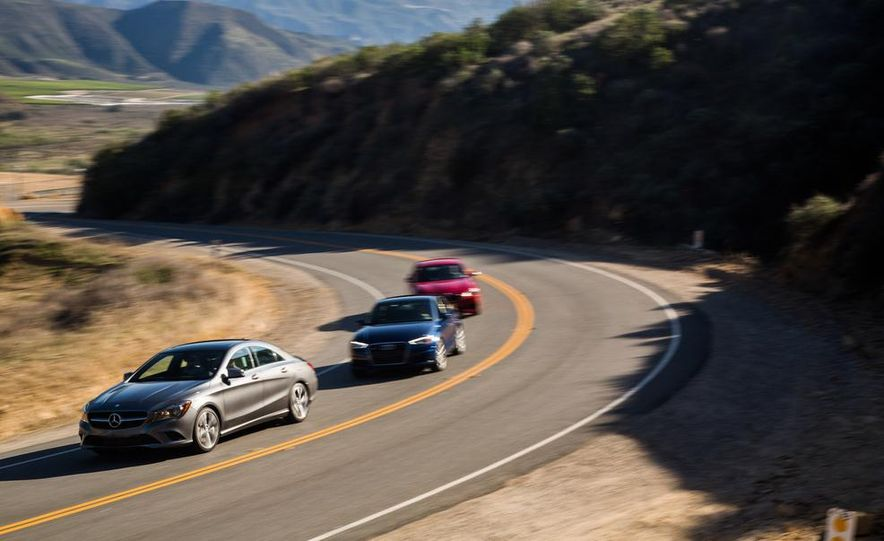 2014 BMW 228i M Sport, 2014 Mercedes-Benz CLA250 4MATIC, and 2015 Audi A3 2.0T Quattro - Slide 4