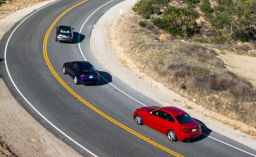 2014 BMW 228i M Sport, 2014 Mercedes-Benz CLA250 4MATIC, and 2015 Audi A3 2.0T Quattro - Slide 10