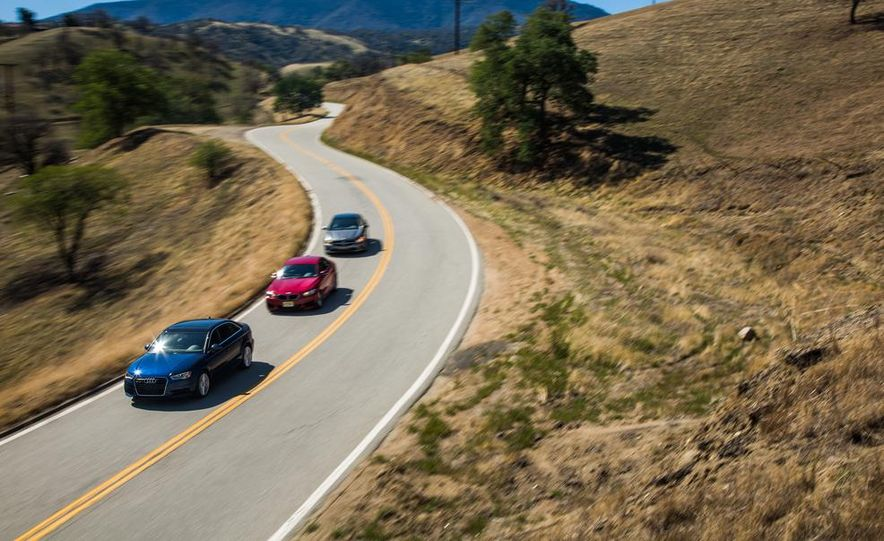 2014 BMW 228i M Sport, 2014 Mercedes-Benz CLA250 4MATIC, and 2015 Audi A3 2.0T Quattro - Slide 6