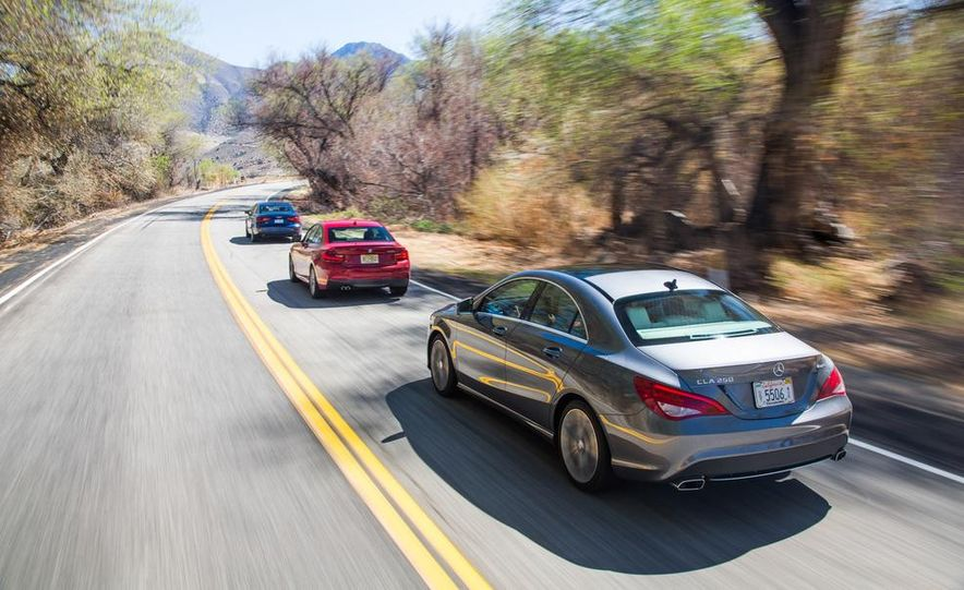 2014 BMW 228i M Sport, 2014 Mercedes-Benz CLA250 4MATIC, and 2015 Audi A3 2.0T Quattro - Slide 8