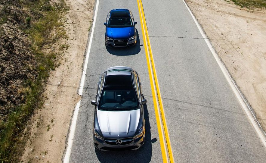 2014 BMW 228i M Sport, 2014 Mercedes-Benz CLA250 4MATIC, and 2015 Audi A3 2.0T Quattro - Slide 13