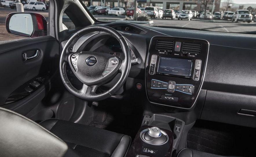 2014 Toyota Prius, 2014 Mercedes-Benz CLA250, 2012 Tesla Model S P85, 2012 Nissan Leaf SL, and 2014 Chevrolet Volt - Slide 26