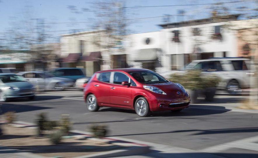 2014 Toyota Prius, 2014 Mercedes-Benz CLA250, 2012 Tesla Model S P85, 2012 Nissan Leaf SL, and 2014 Chevrolet Volt - Slide 20