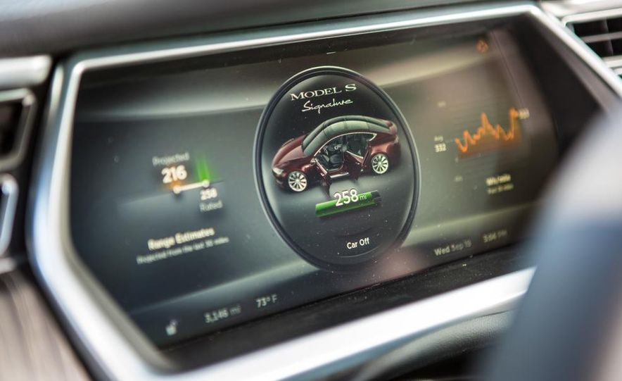 2014 Toyota Prius, 2014 Mercedes-Benz CLA250, 2012 Tesla Model S P85, 2012 Nissan Leaf SL, and 2014 Chevrolet Volt - Slide 78
