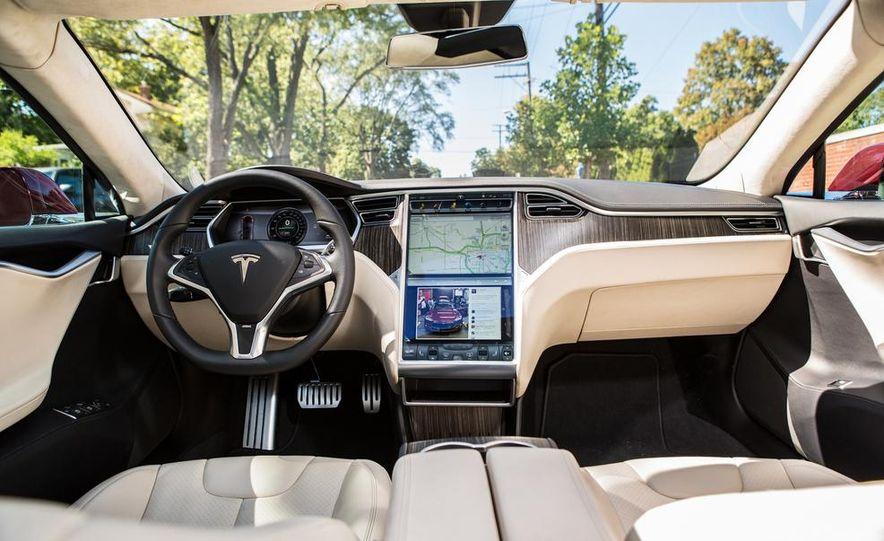 2014 Toyota Prius, 2014 Mercedes-Benz CLA250, 2012 Tesla Model S P85, 2012 Nissan Leaf SL, and 2014 Chevrolet Volt - Slide 76