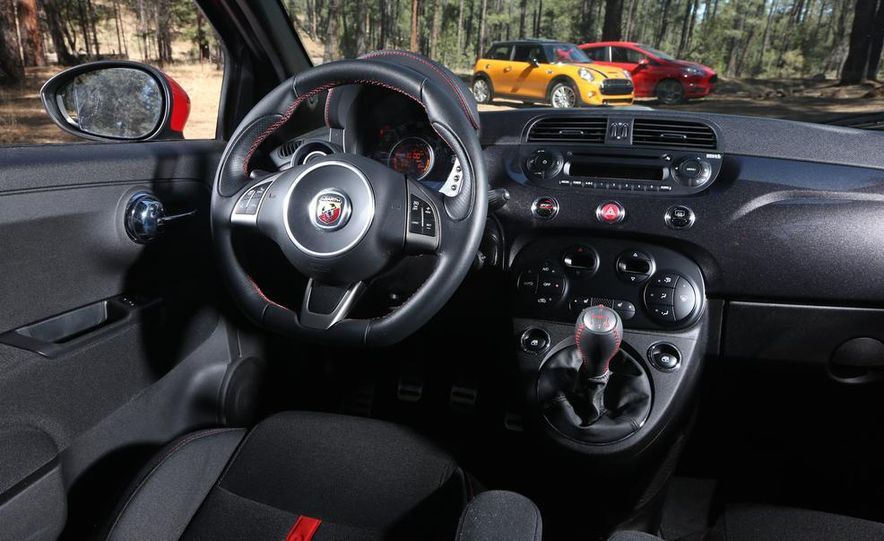2014 Ford Fiesta ST, 2014 Mini Cooper S Hardtop, and 2014 Fiat 500 Abarth - Slide 24