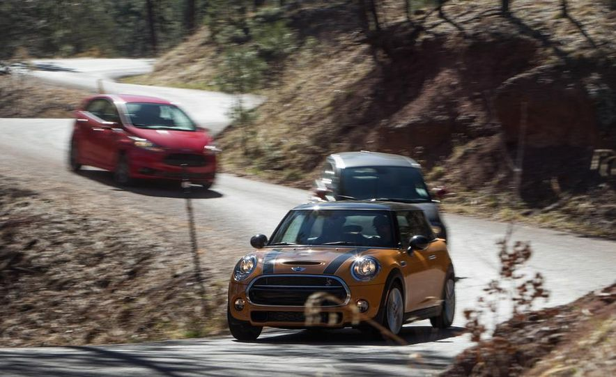 2014 Ford Fiesta ST, 2014 Mini Cooper S Hardtop, and 2014 Fiat 500 Abarth - Slide 4
