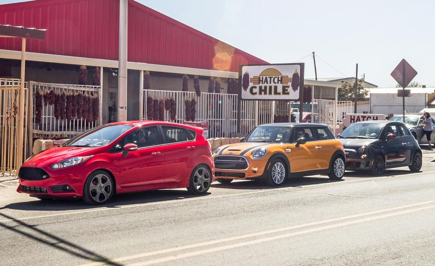 2014 Ford Fiesta ST, 2014 Mini Cooper S Hardtop, and 2014 Fiat 500 Abarth - Slide 10
