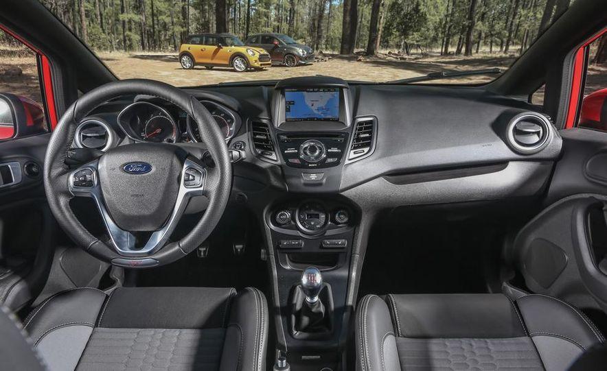 2014 Ford Fiesta ST, 2014 Mini Cooper S Hardtop, and 2014 Fiat 500 Abarth - Slide 60