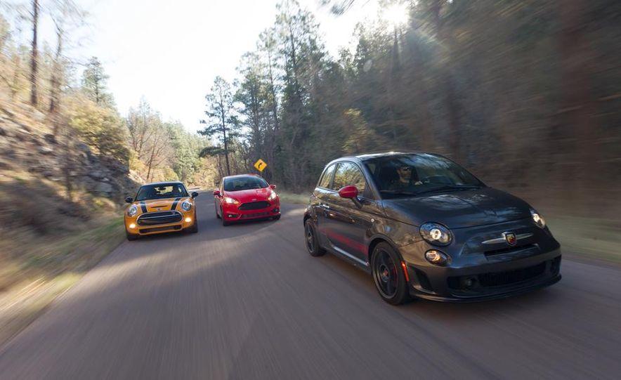 2014 Ford Fiesta ST, 2014 Mini Cooper S Hardtop, and 2014 Fiat 500 Abarth - Slide 6