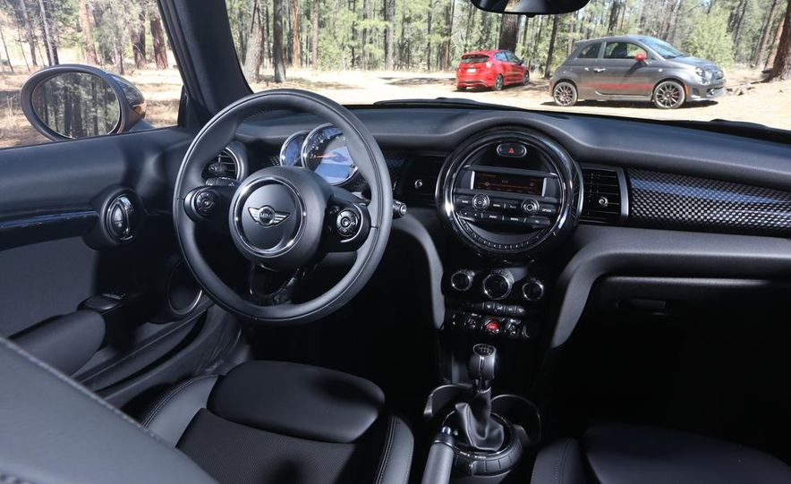 2014 Ford Fiesta ST, 2014 Mini Cooper S Hardtop, and 2014 Fiat 500 Abarth - Slide 43