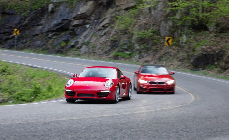 2014 Porsche 911 Carrera and 2015 BMW M4 coupe - Slide 1