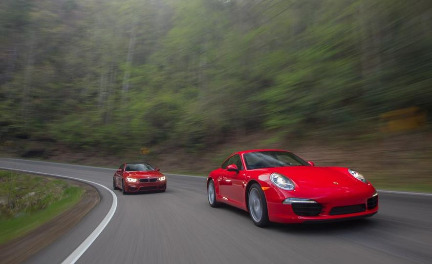 2014 Porsche 911 Carrera and 2015 BMW M4 coupe - Slide 2