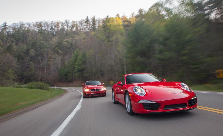 2014 Porsche 911 Carrera and 2015 BMW M4 coupe - Slide 3