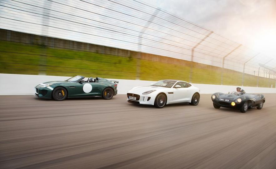Jaguar F-type Project 7, F-type R coupe, and D-type - Slide 1
