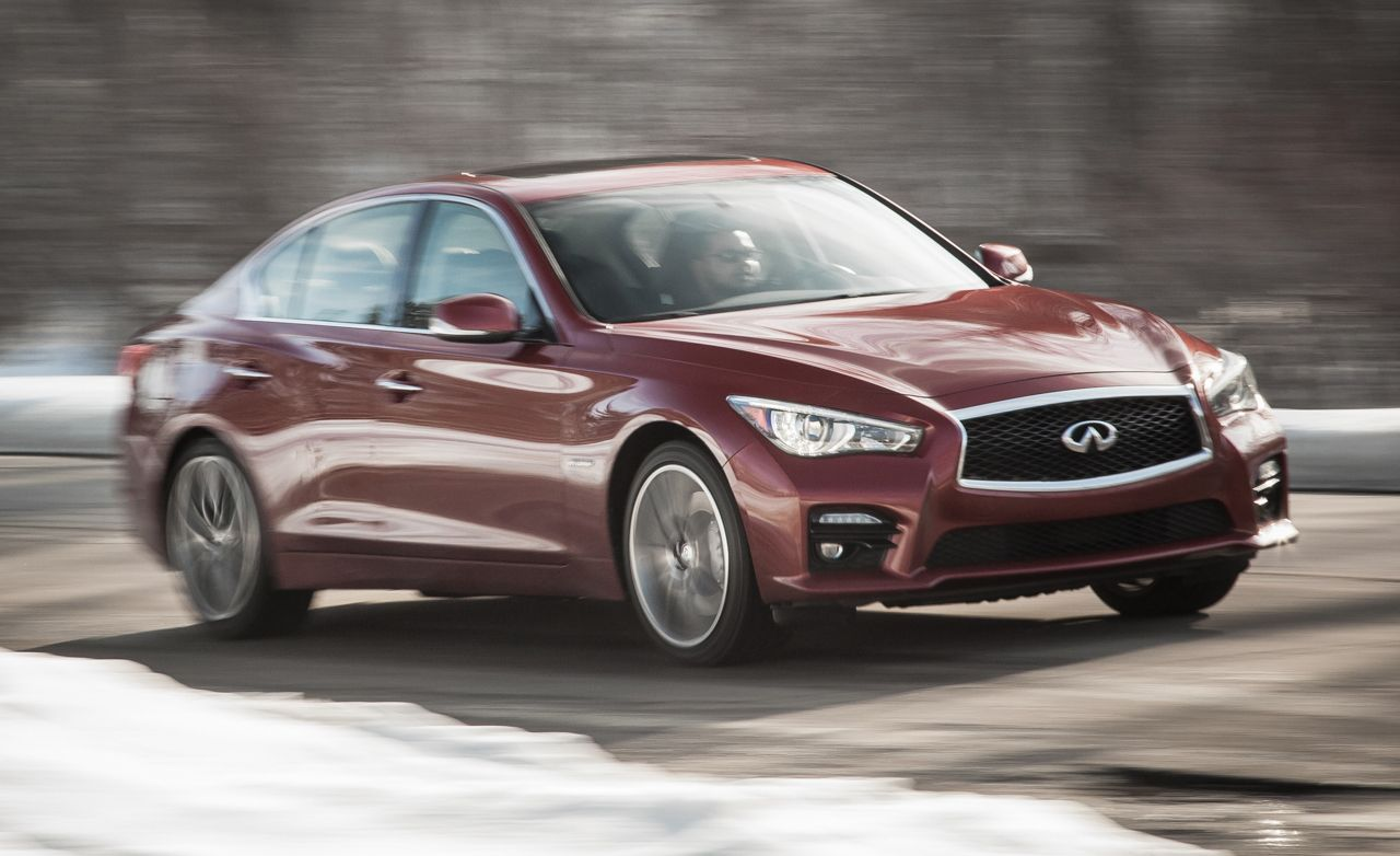 2015 Infiniti Q50 Hybrid Specs >> 2016 Infiniti Q50 Red Sport 400 First Drive Review Car And Driver