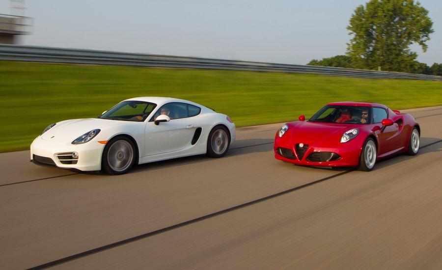 2015 Alfa Romeo 4C vs. 2014 Porsche Cayman