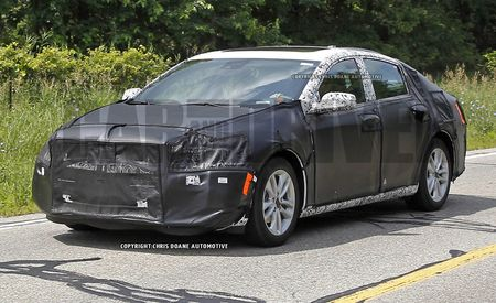 2016 Chevrolet Malibu Spy Photos: Ditchin' Camaro