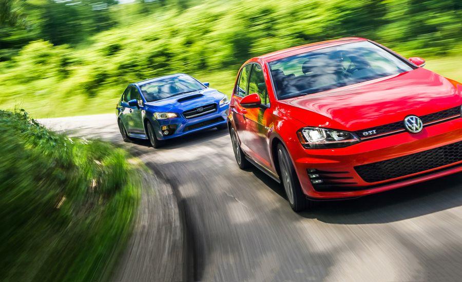 Wrx Vs Gti >> 2015 Subaru WRX vs. 2015 Volkswagen GTI | Comparison Test ...