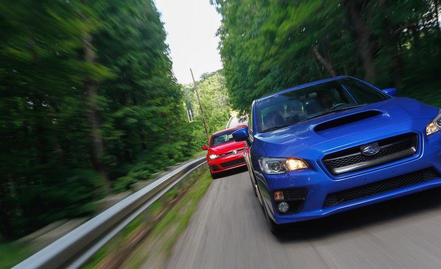 2015 Subaru WRX and 2015 Volkswagen GTI 5-door - Slide 22