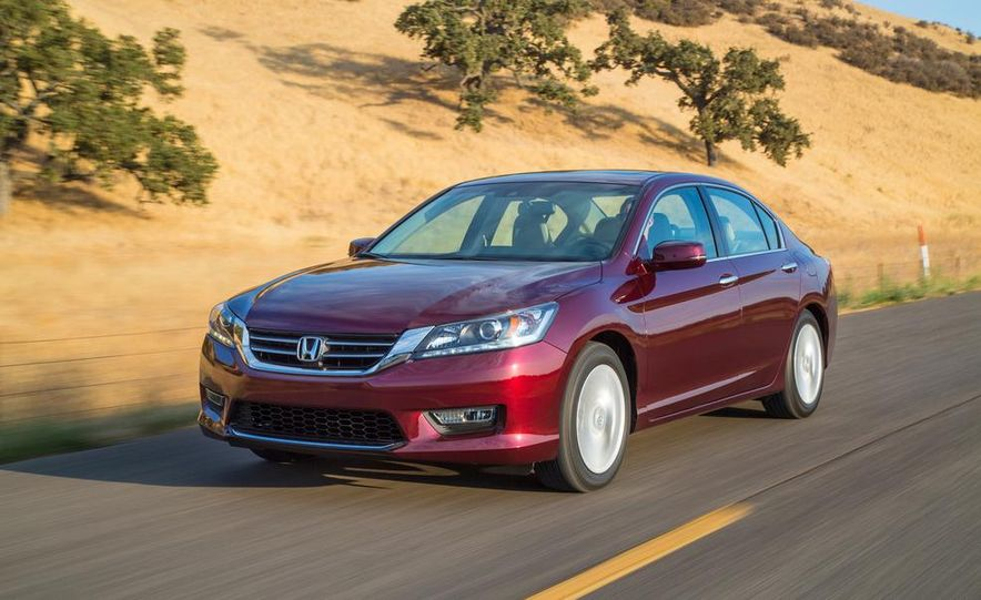 2014 Honda Accord EX-L V-6 sedan model shown - Slide 1