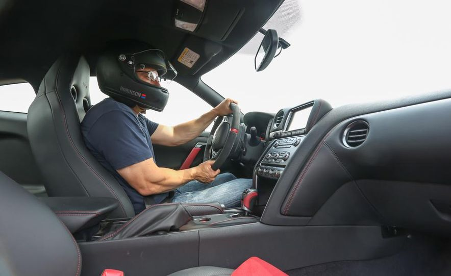 Aaron Robinson in the 2015 Nissan GT-R NISMO - Slide 1
