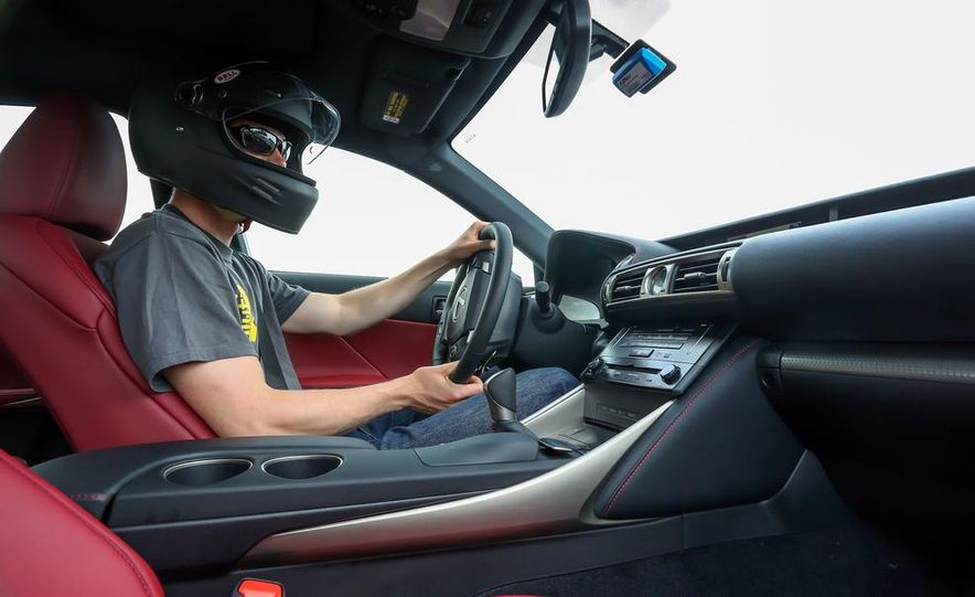 Eric Tingwall in the 2014 Lexus IS350 F Sport - Slide 1