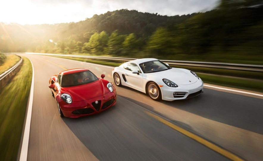 2015 Alfa Romeo 4C and 2014 Porsche Cayman - Slide 1