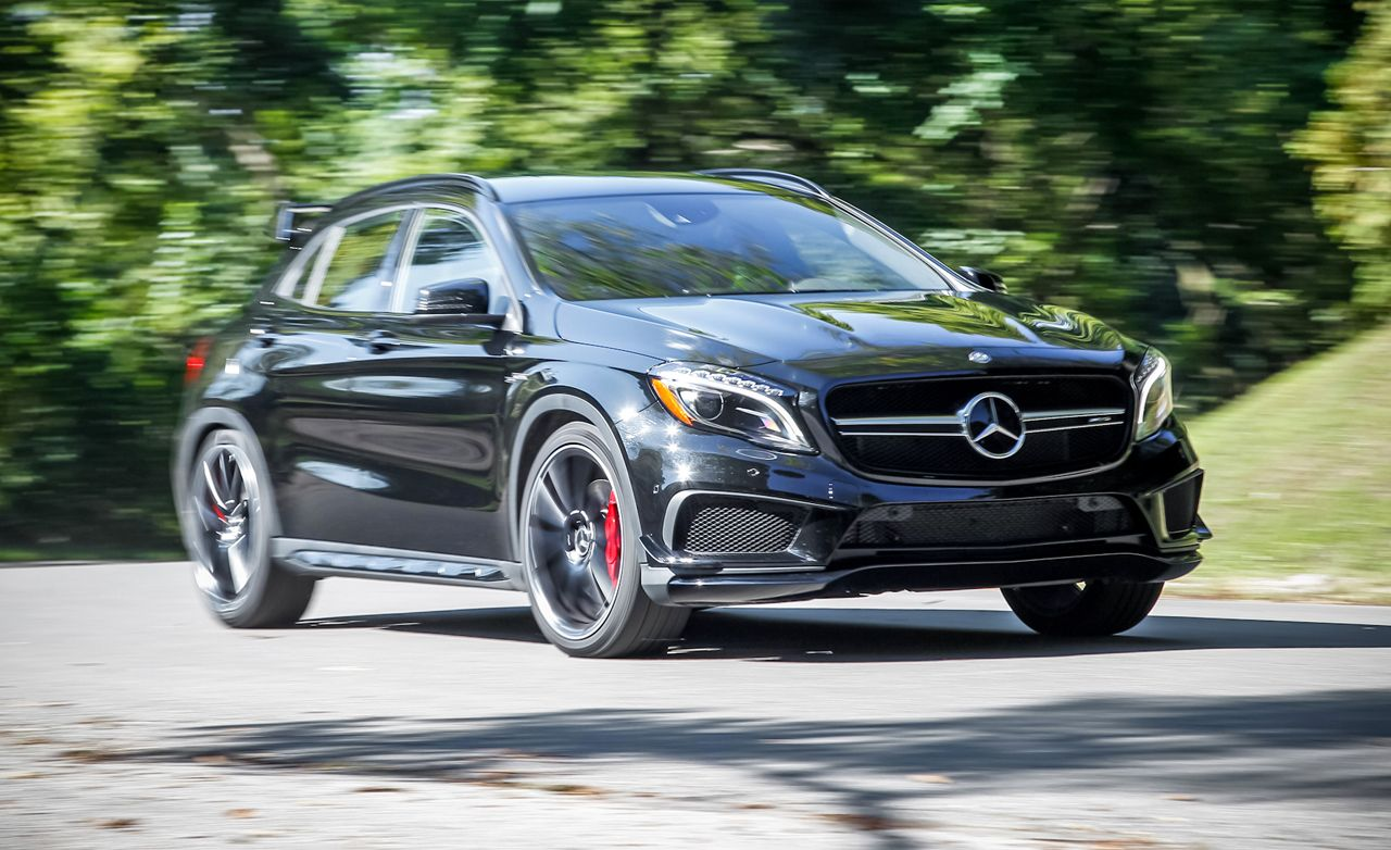 2015 Mercedes Benz Gla45 Amg Test Review Car And Driver
