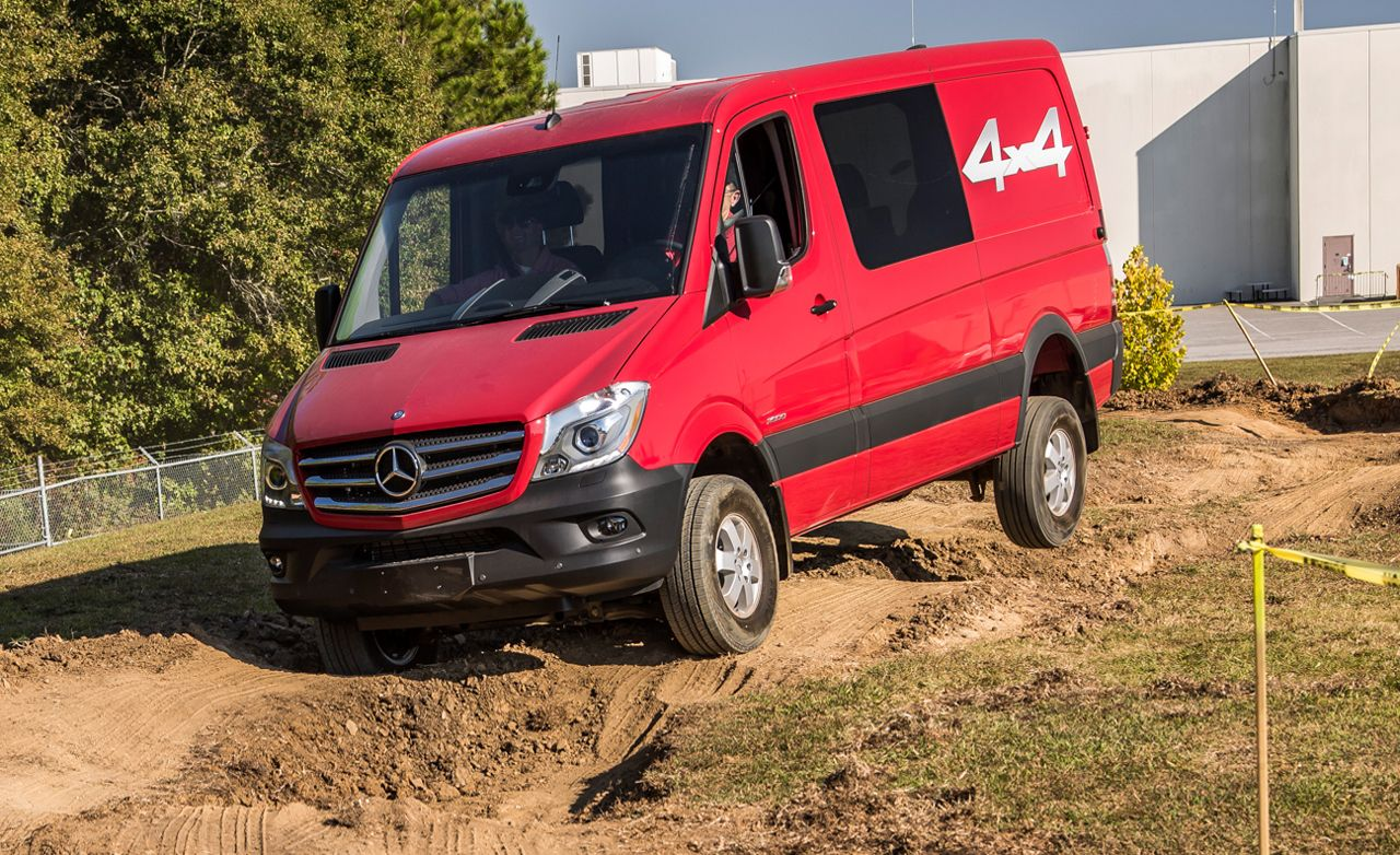 2015 mercedes benz sprinter 4x4 prototype drive review car and driver. Black Bedroom Furniture Sets. Home Design Ideas