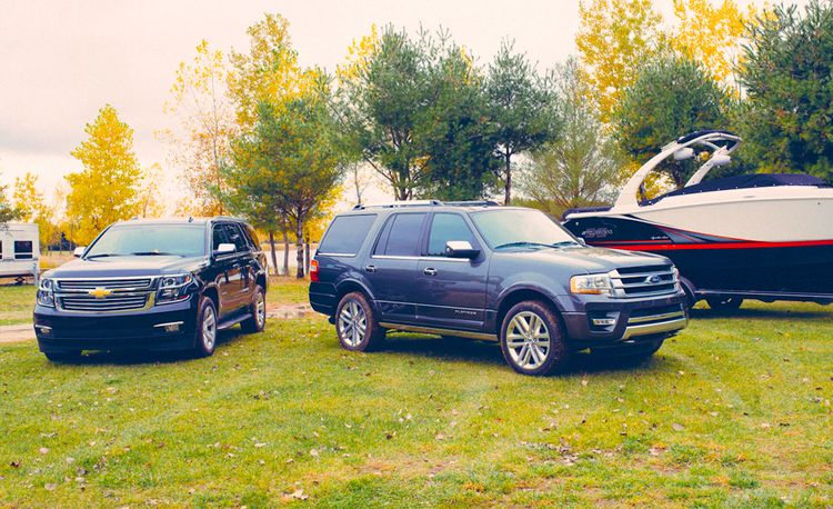 2015 Chevrolet Tahoe LTZ vs. 2015 Ford Expedition Platinum