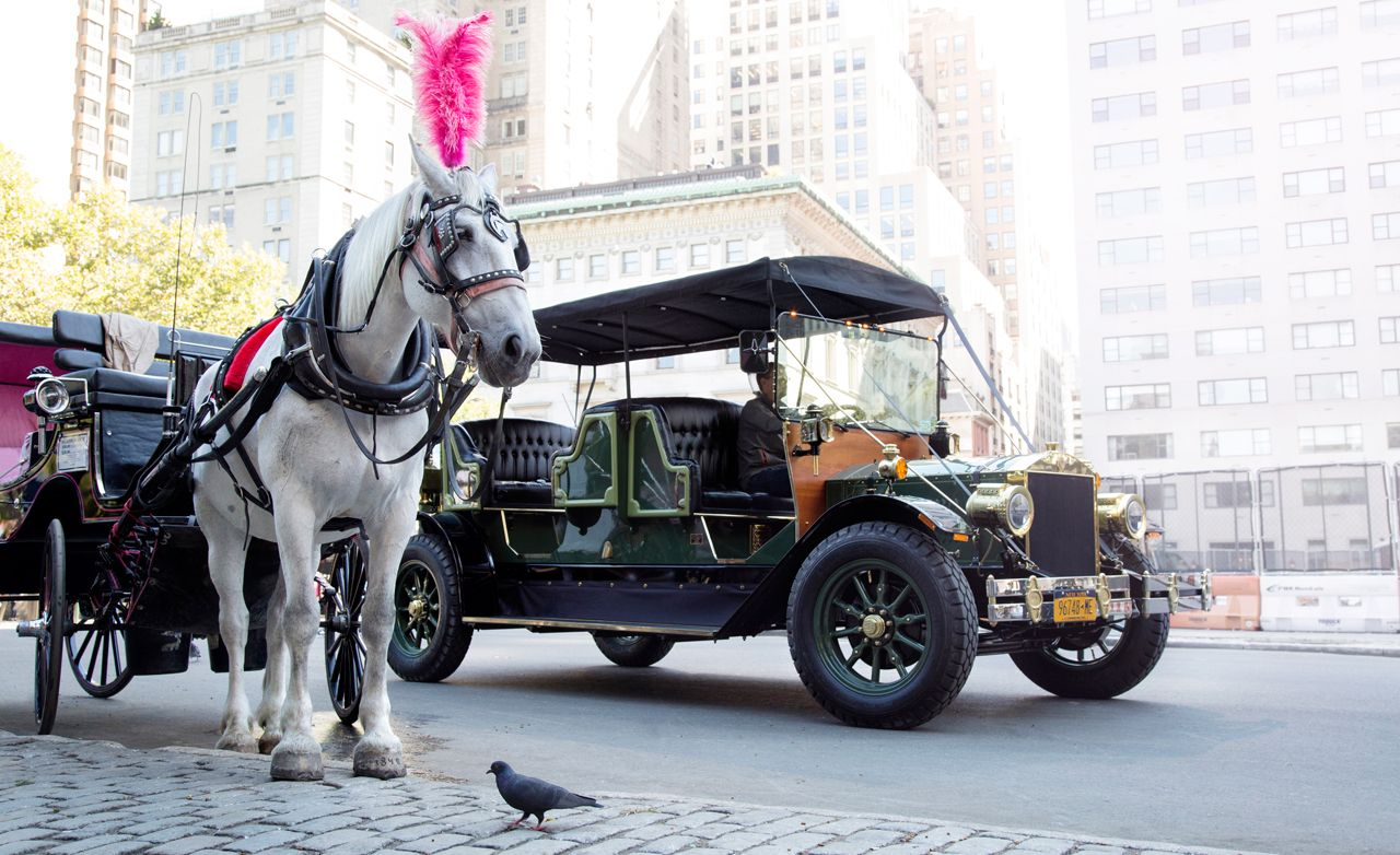 superior car carriage #5: Can an EV Really Replace Central Parku0027s Horse-Drawn Carriages? u2013 Comparison  Test u2013 Car and Driver