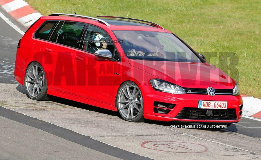 2015 Volkswagen Golf R SportWagen Spied: So Rad, So Off-Limits