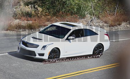 2016 Cadillac ATS-V Coupe Spy Photos: No Camo, Lots of Power