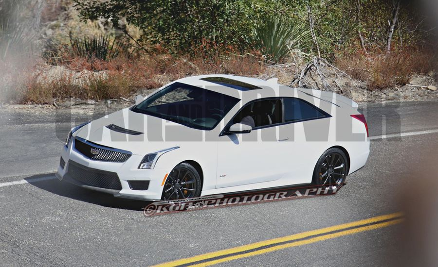 2016 Cadillac ATS-V Coupe Spy Photos: No Camo, Lots of Power