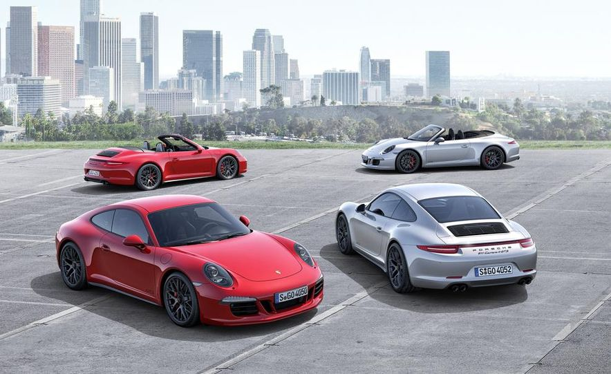2015 Porsche 911 Carrera GTS roadster, GTS 4 roadster, GTS coupe, and GTS 4 coupe - Slide 1