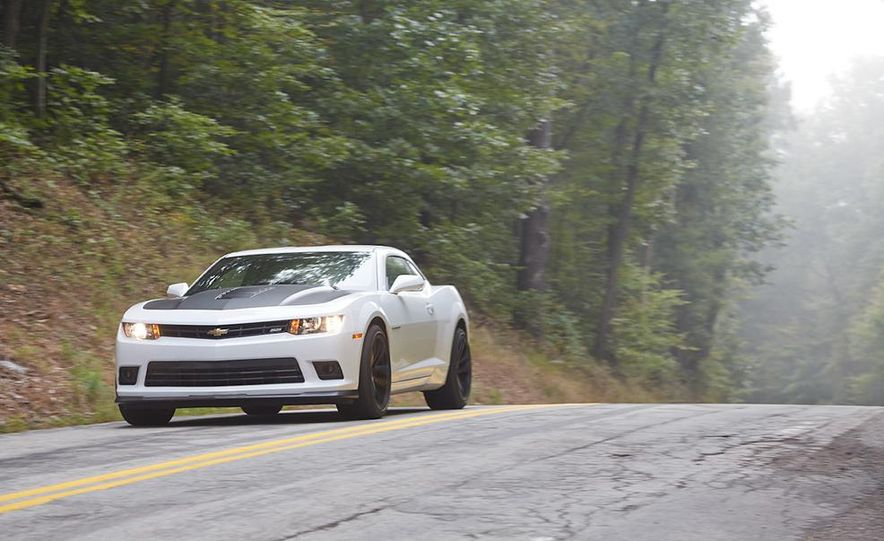 2015 Dodge Challenger R/T Scat Pack, 2015 Chevrolet Camaro SS 1LE, and 2015 Ford Mustang GT - Slide 48