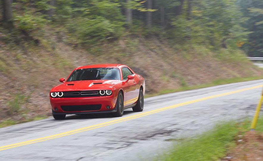 2015 Dodge Challenger R/T Scat Pack, 2015 Chevrolet Camaro SS 1LE, and 2015 Ford Mustang GT - Slide 23
