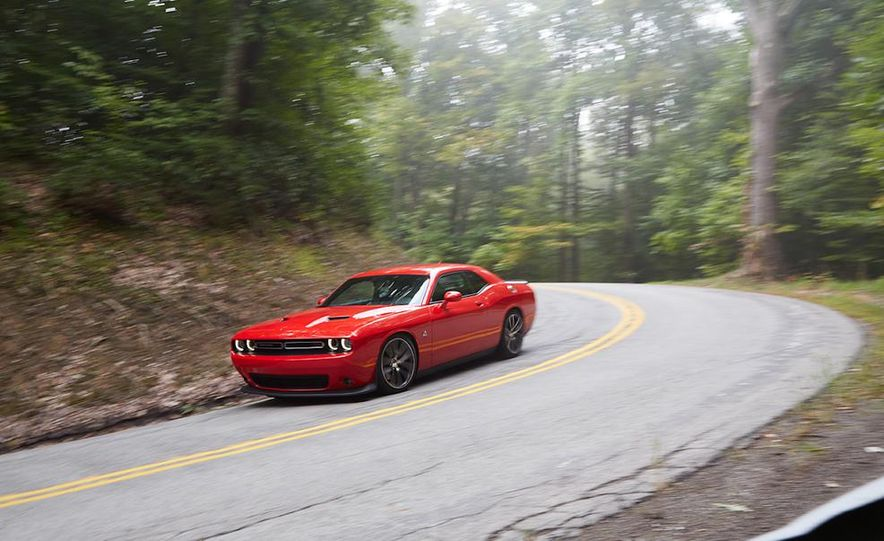 2015 Dodge Challenger R/T Scat Pack, 2015 Chevrolet Camaro SS 1LE, and 2015 Ford Mustang GT - Slide 24