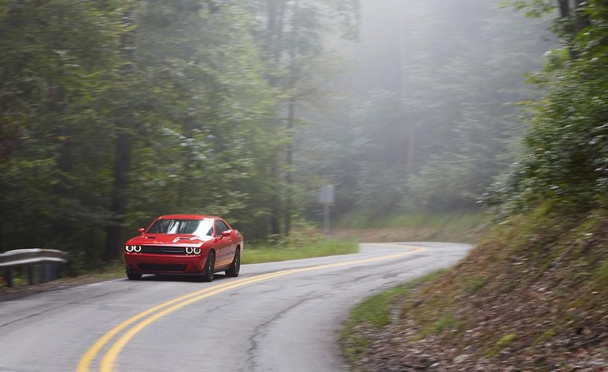 2015 Dodge Challenger R/T Scat Pack, 2015 Chevrolet Camaro SS 1LE, and 2015 Ford Mustang GT - Slide 25