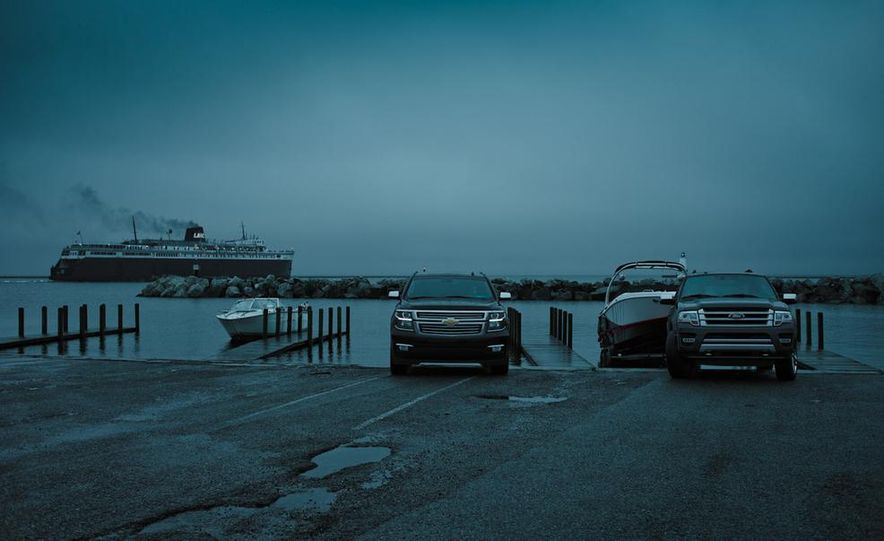 2015 Chevrolet Tahoe LTZ and 2015 Ford Expedition Platinum - Slide 1