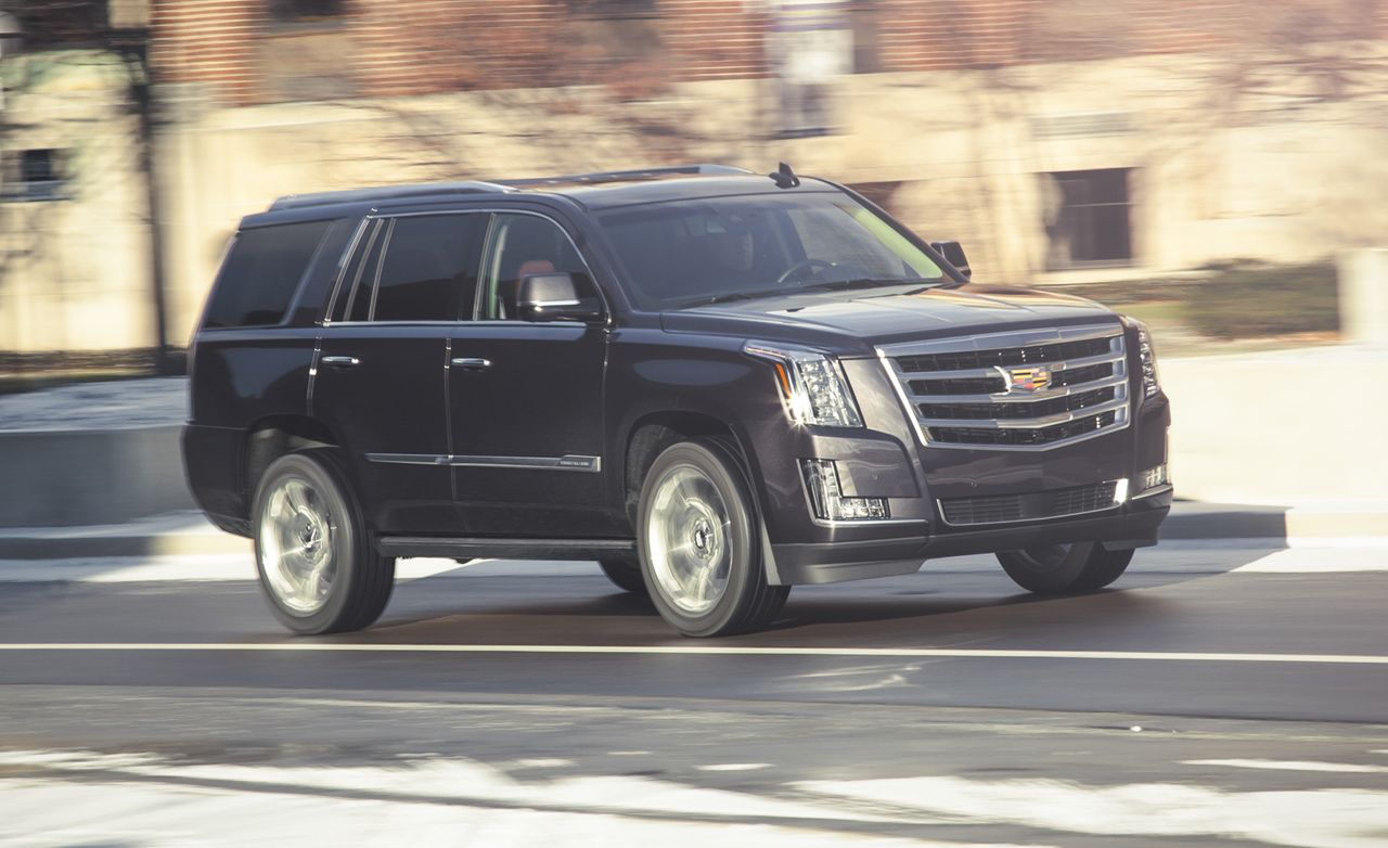 2015 cadillac escalade 6 2l 8 speed automatic test review car and driver
