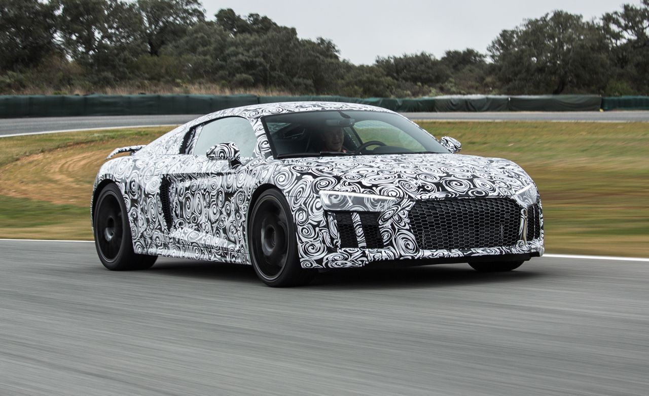 2016 audi r8 prototype poked and prodded review car and driver