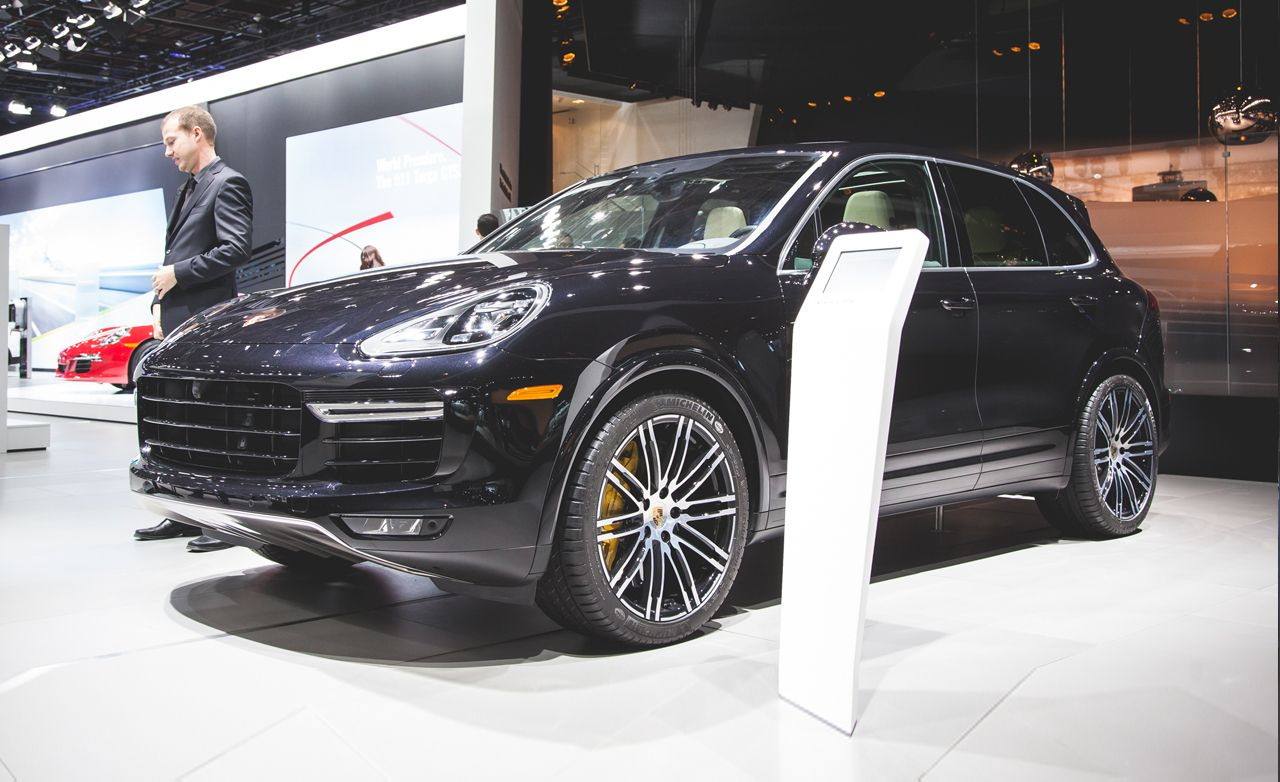 2016 porsche cayenne turbo s photos and info news car and driver. Black Bedroom Furniture Sets. Home Design Ideas