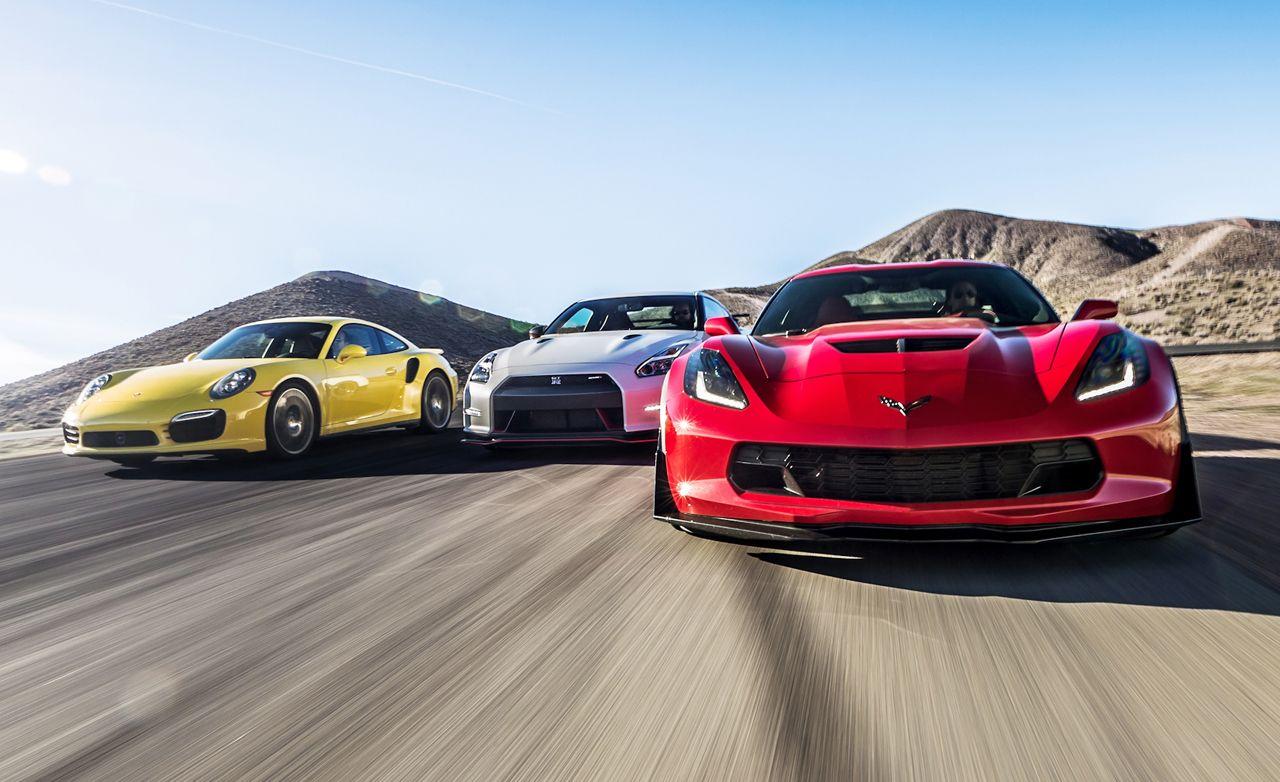 2015 Chevrolet Corvette Z06 vs. 2015 Nissan GT-R NISMO, 2014 Porsche 911 Turbo S