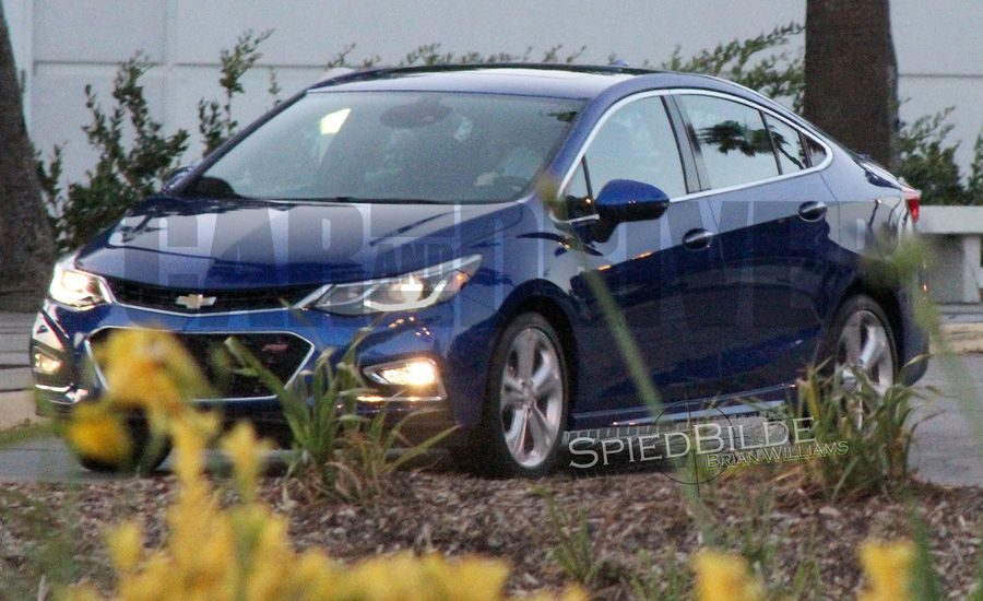 2016 Chevrolet Cruze Uncovered! We Spy Chevy's Next Compact Sedan in Production Form
