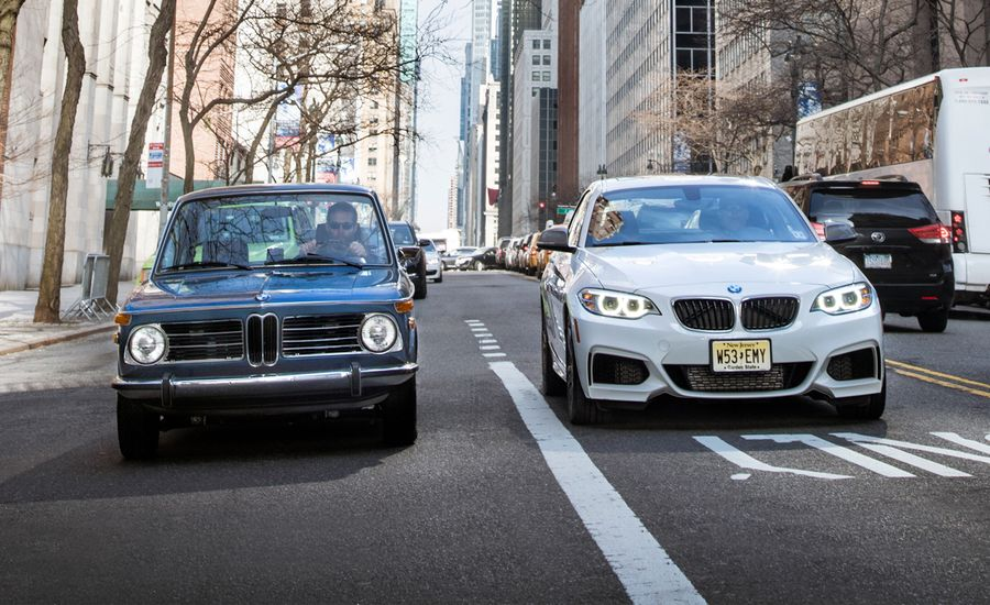 Empire Building: 2015 BMW M235i vs. 1972 BMW 2002 tii
