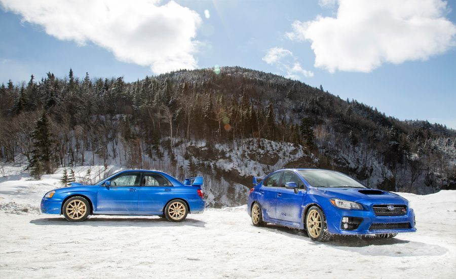 2015 Subaru WRX STI vs. 2004 Subaru Impreza WRX STi | Feature | Car ...