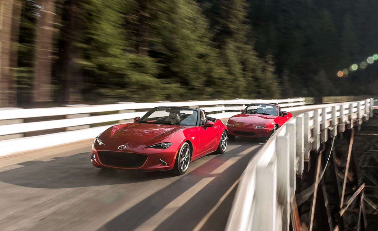 2016 Mazda MX-5 Miata Grand Touring vs. 1990 Mazda MX-5 ...